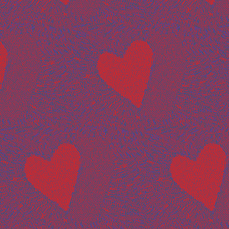 heart electric - red/purple-ch fabric by materialsgirl on Spoonflower - custom fabric