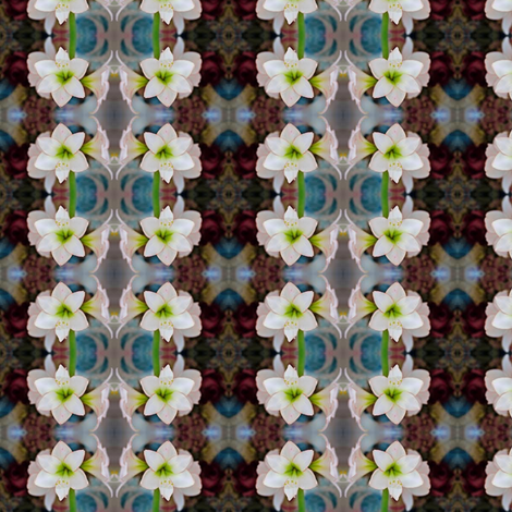 Vintage_amaryll fabric by nype on Spoonflower - custom fabric