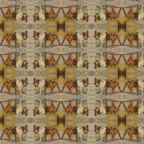 Vintage_bullies fabric by nype on Spoonflower - custom fabric