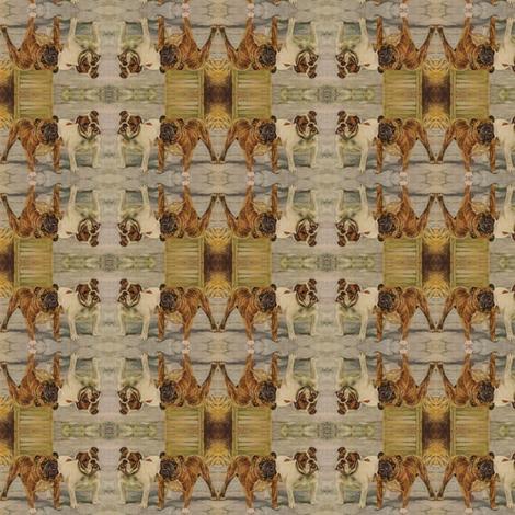 Vintage_bullies fabric by nype on Spoonflower - custom fabric