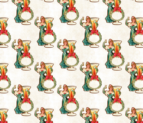 New Years Woman fabric by mandamacabre on Spoonflower - custom fabric