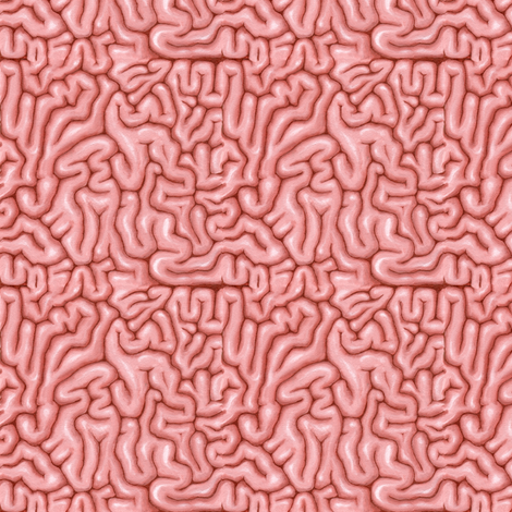 Tiny natural pink brains fabric by sufficiency on Spoonflower - custom fabric
