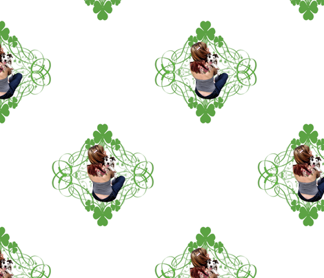 Lucky Puppy fabric by hisruinphotography on Spoonflower - custom fabric