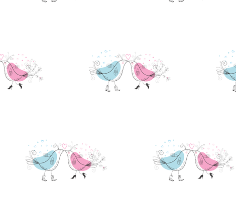 valentines_birds fabric by nav_k on Spoonflower - custom fabric