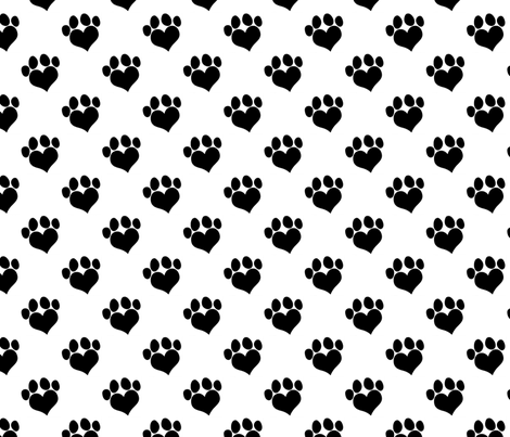 Pit Puppy Paws fabric by hisruinphotography on Spoonflower - custom fabric