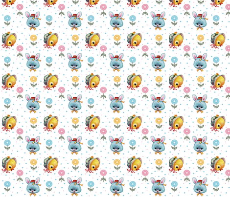 Bunnies & Chicks fabric by fenderskirt on Spoonflower - custom fabric