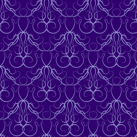 gothic scrolls - purple fabric by ravynka on Spoonflower - custom fabric