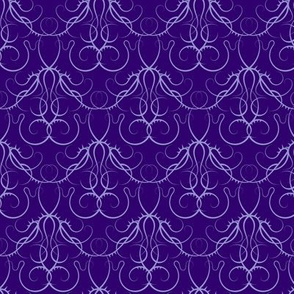 gothic scrolls - purple