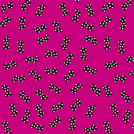 Black Bowtie on Pink fabric by smuk on Spoonflower - custom fabric