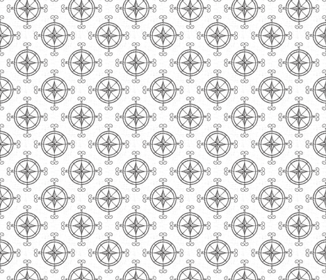 north_compass fabric by holli_zollinger on Spoonflower - custom fabric