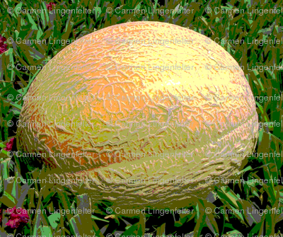Cartoon Cantaloupe