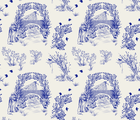 The Bridge. A Victorian Murder  fabric by diane555 on Spoonflower - custom fabric
