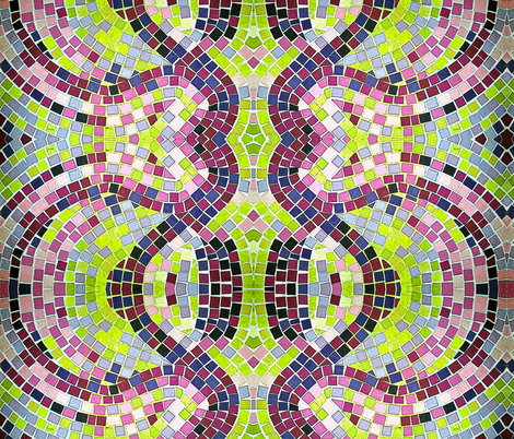 Mosaic Purple Tiles fabric by cvoorhee on Spoonflower - custom fabric