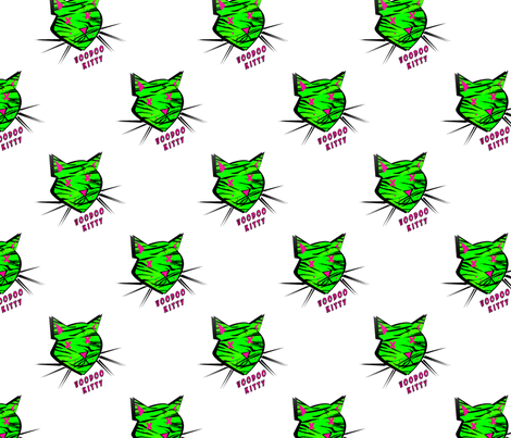 Voodoo Kitty fabric by slickandhisruin on Spoonflower - custom fabric