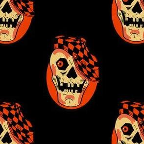 Vintage Halloween Skull