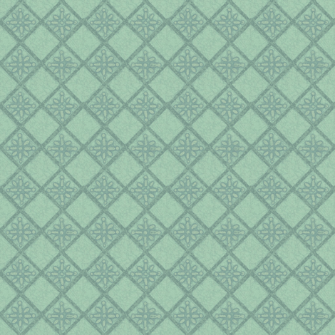 Antique French Tile - altered color fabric by materialsgirl on Spoonflower - custom fabric