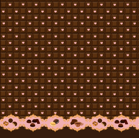 Sweet Like Chocolate - Strawberry fabric by shadow-people on Spoonflower - custom fabric
