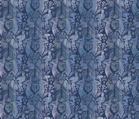 Fairytale Forest (Midnight) fabric by rabbit_engine on Spoonflower - custom fabric