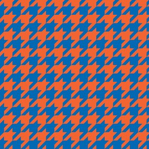 Houndstooth Blue Orange
