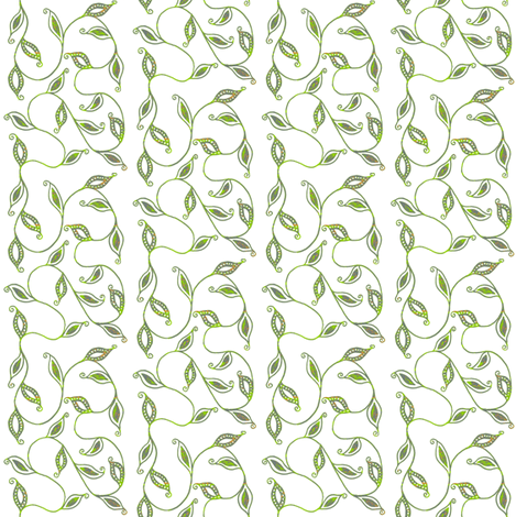 fancy_leaves-wht fabric by kerryn on Spoonflower - custom fabric