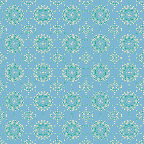 cosmic blue fabric by kerryn on Spoonflower - custom fabric