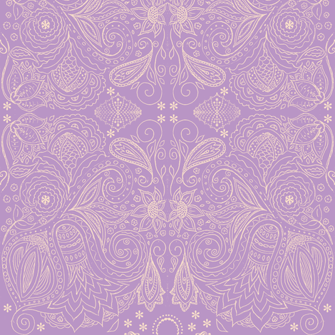 fancy nature violet fabric by kerryn on Spoonflower - custom fabric
