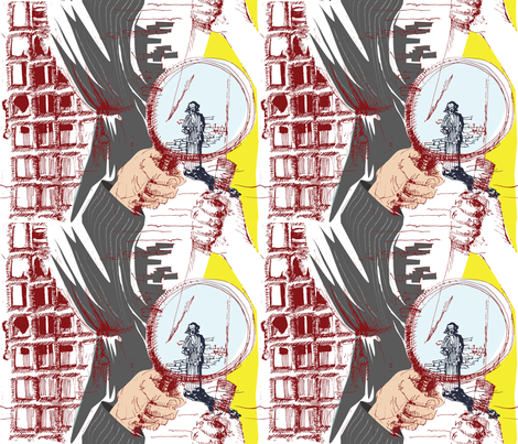 murder-mystery-toile-coloured-sm fabric by csl on Spoonflower - custom fabric