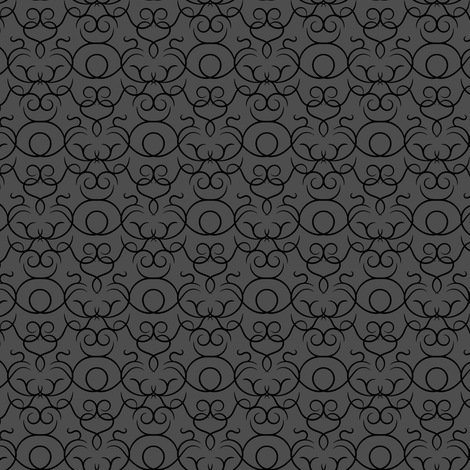 Scrolls design - graphite fabric by ravynka on Spoonflower - custom fabric