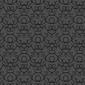 Scrolls design - graphite