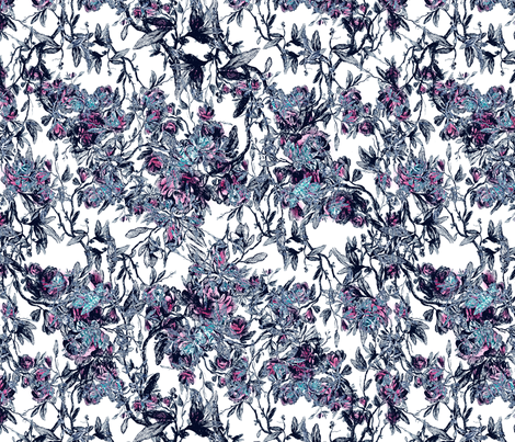 antique floral puple fabric by kociara on Spoonflower - custom fabric