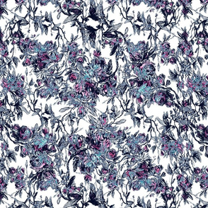 antique floral puple