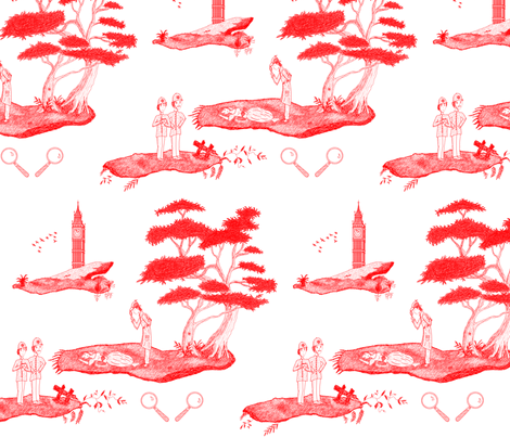 Who Killed Her fabric by ladynoxy on Spoonflower - custom fabric