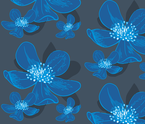 Anemone fabric by subcutaneous88 on Spoonflower - custom fabric