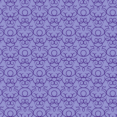 scrolls - purple fabric by ravynka on Spoonflower - custom fabric