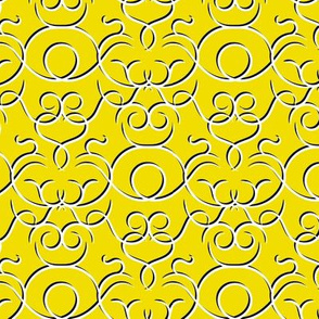 scrolls - yellow with shadow