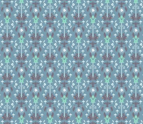 Birdhouse Beckons fabric by designmagi on Spoonflower - custom fabric