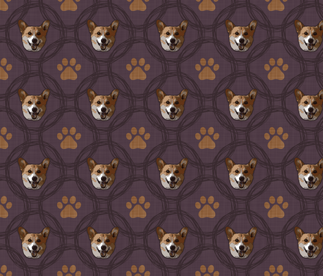 Corgi Circles fabric by dianef on Spoonflower - custom fabric