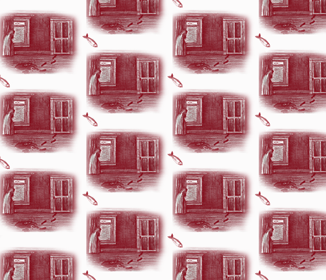 Red_Herring_Murder_Mystery_Toile fabric by isa_creations on Spoonflower - custom fabric
