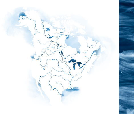 North American Rivers fabric by linkolisa on Spoonflower - custom fabric