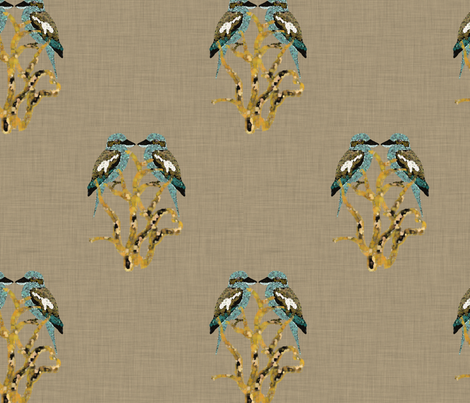 Kooky Kookaburra fabric by motiver on Spoonflower - custom fabric