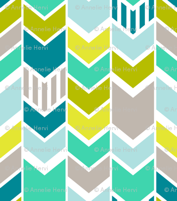 Mod Blue Chevron Large Scale