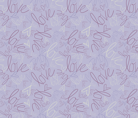 Love is in the Air! fabric by juliapaigedesigns on Spoonflower - custom fabric