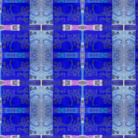 """Blue Glass Windows"" fabric by elizabethvitale on Spoonflower - custom fabric"