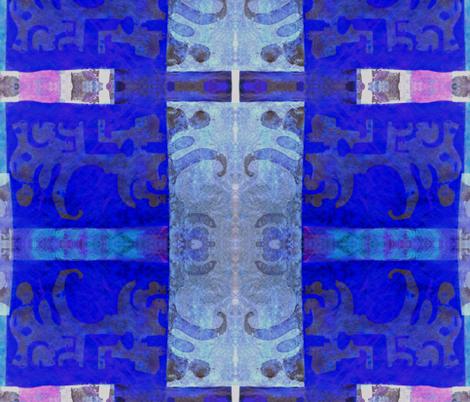 """Blue Glass Windows"" fabric by elizabethvitale on Spoonflower - custom fabric"