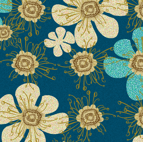 Speckled blooms large scale fabric by motiver on Spoonflower - custom fabric