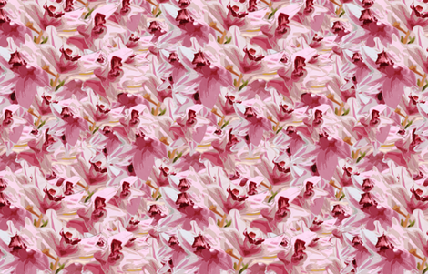 Pink Orchid Bunch fabric by lesfleursdemimi on Spoonflower - custom fabric