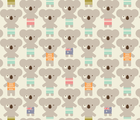 koala-lala fabric by amel24 on Spoonflower - custom fabric