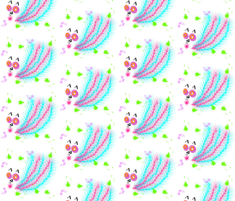 Catbird fabric by anniedeb on Spoonflower - custom fabric