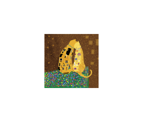 "Klimts_Kats 8""x8"" fabric by higmeister on Spoonflower - custom fabric"