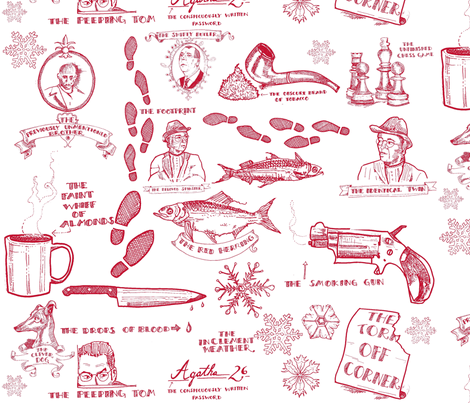 Red Herrings,etc. fabric by boris_thumbkin on Spoonflower - custom fabric
